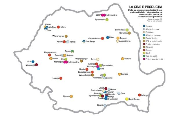 harta fabricilor de materiale de constructii